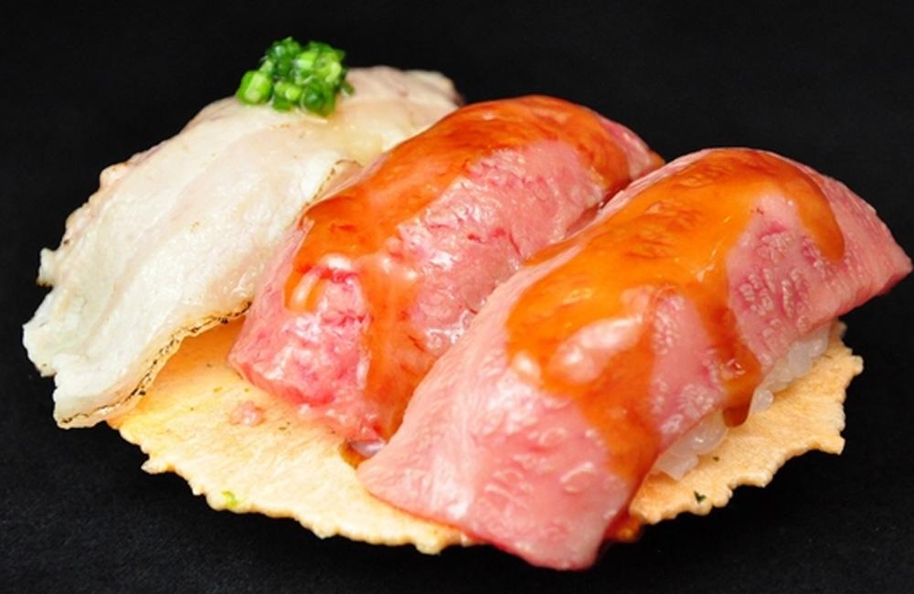 飛騨牛あぶりにぎり寿司 珠玉の三種盛り